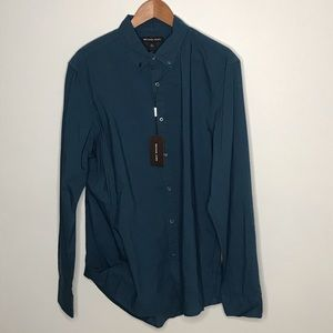 Michael Kors Slim Fit blue button down shirt
